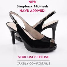I am so excited to bring you this brand new collection of super-cute #SlingbackHeels that feature a practical yet stylish 8cm mid-heel. Now even our die-hard Flats fans can enjoy wearing sexy heels! This collection is custom designed from the ground up to fit both narrow and wide foot shapes. The patent black (albeit a bit boring for Scarlettos) can be paired with almost anything and the style is comfortable enough to be worn all day and night long! There is only 100 pairs made in this… Wide Feet, Die Hard, Sexy Heels, Light In The Dark, Fans, Shapes, Photo And Video, Night, Stylish