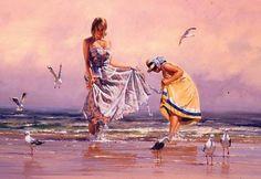 Bóng hồng lãng mạn trong tranh Robert Hagan. Văn học Mỹ Thuật - XãLuận.com Tin Nóng