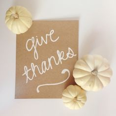 give thanks print from Marisa Makes