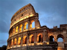 The Colosseum is a very popular and historical place in Rome. We are giving here some information about Colosseum with new photos-images for Places Around The World, Oh The Places You'll Go, 7 World Wonders, Flights To Rome, Cheap Flights, Rome History, Backpack Through Europe, Visit Italy, Famous Places