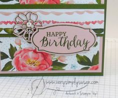 Rose Wonder, Birthday Bouquet, Birthday Cards, 2016 Occasions, www.verysimplysusan.com