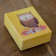Κουτάκι για μπομπονιέρα βάπτισης με θέμα την κουκουβάγια. Boxes, Container, Luxury, Crates, Box, Cases, Boxing