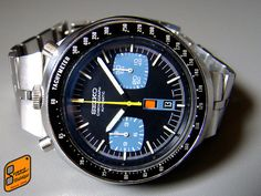 Seiko 6138-0040 Black Bullhead by hsalnat, via Flickr