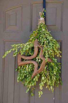 Herbal Door Wreath for Pentecost