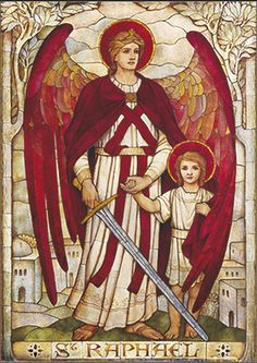 Blessed Saint Raphael, Archangel, we beseech you to help us in all our needs and trials of this life, as you, through the power of God, restored sight and gave guidance to young Tobit. We humbly seek your aid and intercession, that our souls may be healed, our bodies protected from all ills, and that through divine grace we may become fit to dwell in the eternal Glory of God in heaven. Amen.