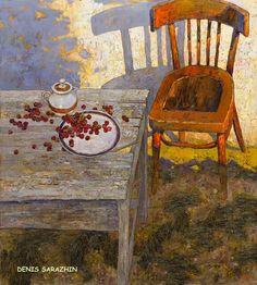 """DENIS SARAZHIN Nikopol, Ucrania - 1982 """"Desde Járkov, un pincel lleno de belleza""""(1) DENIS SARAZHIN - Óleo sobre lienzo ..."""