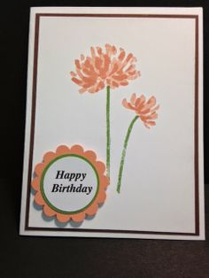 Too Kind, Birthday Card, Stampin' Up!, Rubber Stamping,  Handmade Cards