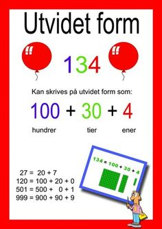 Ida_Madeleine_Heen_Aaland uploaded this image to 'Ida Madeleine Heen Aaland/Plakater og oppslag'. See the album on Photobucket. Danish Language, Numicon, Place Values, Too Cool For School, Math Worksheets, Teaching Math, Holidays And Events, Second Grade, Classroom