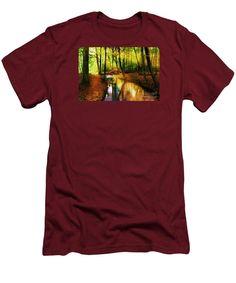 Men's T-Shirt (Slim Fit) - Abstract Landscape 0747