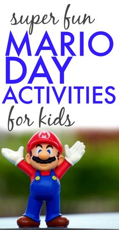 Mario Day Activities for Kids - - Did you know there is a Mario Day? (Yes, that Mario from Nintendo video games!) Learn how to host a fun Mario Day for kids with these 21 games, lessons and technology activities for a fun holiday! Mario Party Games, Super Mario Games, Super Mario Party, Super Mario Bros, Mario Video Game, Video Game Party, Super Mario Birthday, Mario Birthday Party, 9th Birthday
