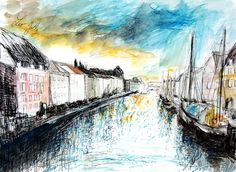 Nyhavn, Copenhagen by LeoJolly.deviantart.com on @DeviantArt