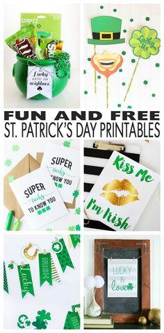 Over 20 Fun and Free St. Patrick's Day Printables #stpatricksday #freeprintables