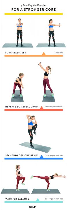 4 Standing up ab exercises