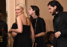 January Annual Golden Globes Awards - Backstage - 0107 Backstage 0008 - Adoring Emilia Clarke - The Photo Gallery Emilia Clarke, Kit Harington, Golden Globe Award, Golden Globes, Kit And Emilia, Game Of Throne Actors, Game Of Thrones Cast, Mexican Actress, Fantasy Male