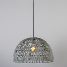 Lámpara colgante PAPELLA 2 gris #iluminacon #decoracion #interiorismo