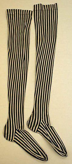 Silk stockings,1890's. The Met.