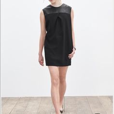 Banana Republic Monogram Leather/black dress Banana Republic Monogram black dress w leather detail,winter2015. Brand New with tags(takings offers)$$ Banana Republic Dresses