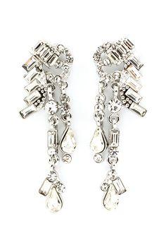 Crystal Deco Chandelier Earrings