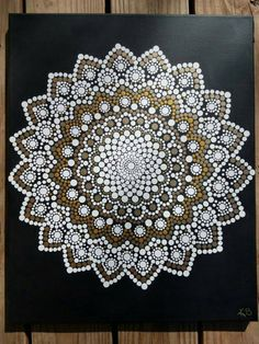 Kaylabreen2017© all rights reserved Hand Painted Dot Flower Mandala Painting -Background is a matte black with acrylic paints sealed with a varnish -Canvas size is 16x 20 inch Due to the hand painted nature of each of these pieces, they all contain their own individual perfections and imperfections making them uniquely beautiful. :) Mandalas offer balancing visual elements, symbolizing unity and harmony and serve as a tool on our spiritual journey as it symbolizes cosmic and psychic order…
