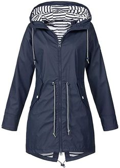 Fall Jackets, Long Jackets, Jackets For Women, Long Coats, Black Jackets, Women's Jackets, Hooded Raincoat, Hooded Jacket, Windbreaker Jacket