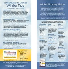 Winter Grocery List for Vata type