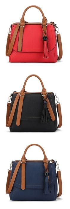 Shoespie Street Chic Contrast Color Handbag