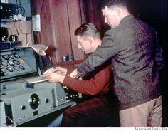 David Packard (left) and William Hewlett. Associated Press file photo, 1939