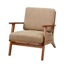 Madison Park Axis Exposed Wood Accent Chair Mushroom See below
