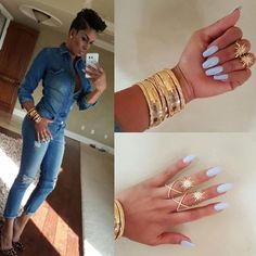 Check Out My Rings & They Bend Also Bangles Are Banging At @adornednstyle