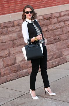 She took black & white to a new level..  Penny Pincher Fashion: Graphic Ground