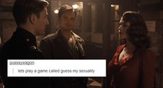 Steve Rogers is as bisexual as you can get and you'll never convince me otherwise.