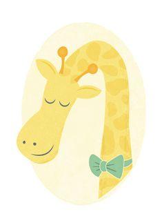 art prints - Mister Giraffe by Jessie Steury