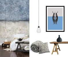 Timeless combination of blue and gray color is a perfect solution for people who appreciate minimalism at home decor. #grayinterior #minimalism