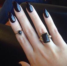 Beautiful classy black nails