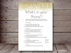 5″X7″ WHAT'S IN YOUR PHONE BS040A