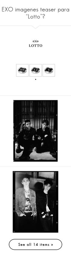 """""""EXO imagenes teaser para """"Lotto""""♥"""" by cover-10-girl ❤ liked on Polyvore featuring exo, kpop, k-pop and chanyeol"""