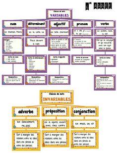 La classe de Madame Valérie: Classes de mots et les fonctions syntaxiques dans la phrase (4e-5e-6e)