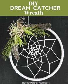 It's simple to make a Dream Catcher Wreath with just a handful of supplies and a little bit of time. You may already have everything you need on hand to create this beautiful and boho wreath for your home!