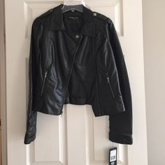 NWT Black Moto Jacket Never worn!  Black Rivet brand Jackets & Coats