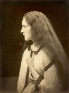 """""""The Echo"""", 1868. Photo by Julia Margaret Cameron. One of the greatest portraitists in the history of photography, Julia Margaret Cameron (1815–1879) blended an unorthodox technique, a deeply spiritual sensibility, and a Pre- Raphaelite–inflected aesthetic to create a gallery of vivid portraits and a mirror of the Victorian soul."""