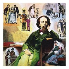 Charles Dickens with his Characters, Giclee Print by Ralph Bruce at Art.com