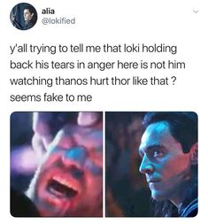 AND THEN HE ATTACKS THANOS BEFORE ANYONE GETS KILLED AND WOOHOO THANOS DIES
