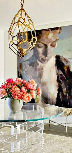 Brass and lucite - oversized art - definitely painting a mural of my fav piece if I ever get a house :P Interior Inspiration, Design Inspiration, Interior Ideas, Deco Addict, Hanging Art, Interior Decorating, Decorating Ideas, Art Deco, Artsy