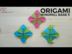 How to fold another origami windmill base model. This is the variation published in this channel. Origami Turtle, Origami Cat, Origami Fish, Modular Origami, Origami Box Tutorial, Envelope Tutorial, Origami Windmill, Origami Quilt, Paper Embroidery