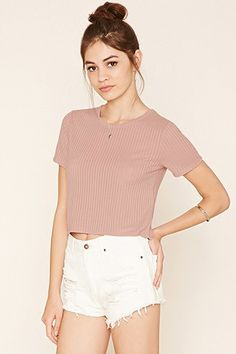 Ribbed Knit Crop Top//: WANT