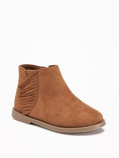 Faux-Suede Fringe Booties For Toddler $26.94