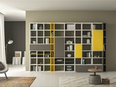 Librería lacada SPEED P by Dall'Agnese diseño Imago Design, Massimo Rosa Bookcase Wall Unit, Bookshelf Design, Bookcase Storage, Shelving, Modern Bookcase, Built In Furniture, Furniture Design, Muebles Living, Tv Unit Design