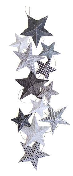 DIY Girlande Sterne u0027My Superstaru0027 grau Babyzimmer grau, Junge - babyzimmer sterne photo