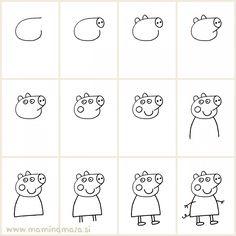 Kako narisati Pujso Pepo // Easy way to draw Peppa Pig and impress your kids :)