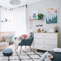 Déco Chambre Bébé Fille Et Garçon En Style Scandinave Pour Un - Canapé convertible scandinave pour noël site déco chambre bébé